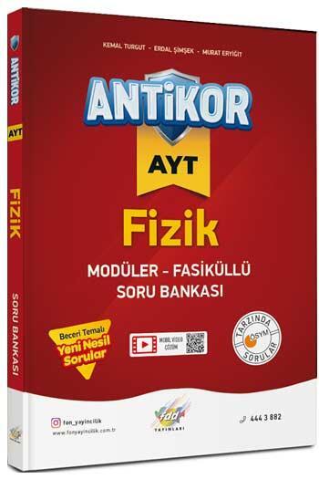 FDD Yayınları AYT Antikor Fizik Modüler Fasiküllü Soru Bankası