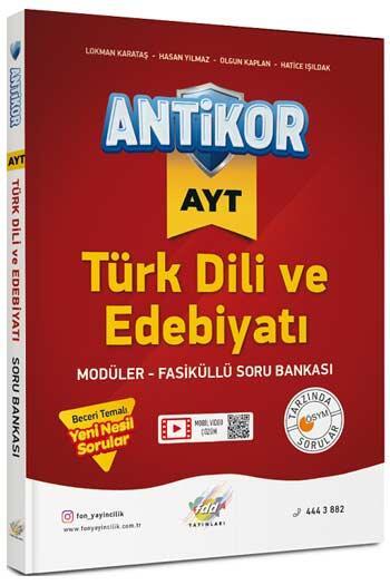 FDD Yayınları AYT Antikor Türk Dili ve Edebiyatı Modüler Fasiküllü Soru Bankası
