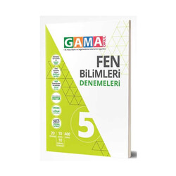 Gama Yayınları - Gama Okul Yayınları 5. Sınıf Fen Bilimleri Denemeleri