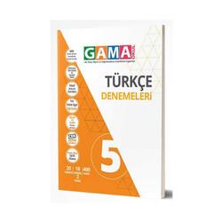 Gama Yayınları - Gama Okul Yayınları 5. Sınıf Türkçe Denemeleri