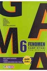 Gama Yayınları - Gama Okul Yayınları 6. Sınıf Fenomen Tüm Dersler Kamp Kitabı