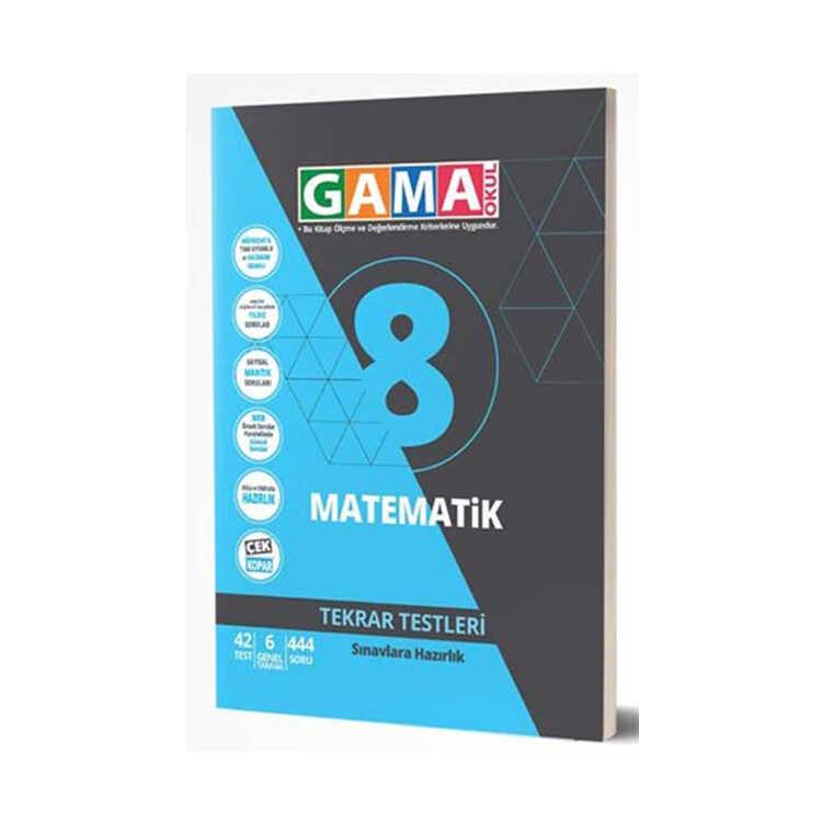 Gama Okul Yayınları 8. Sınıf Matematik Tekrar Testleri