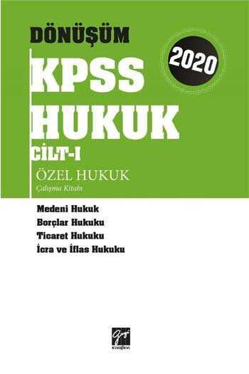 Gazi Kitabevi 2020 KPSS Dönüşüm Özel Hukuk Çalışma Kitabı Cilt 1