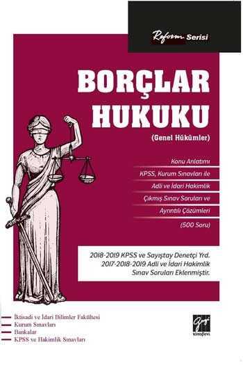 Gazi Kitabevi Reform Serisi Borçlar Hukuku (Genel Hükümler)