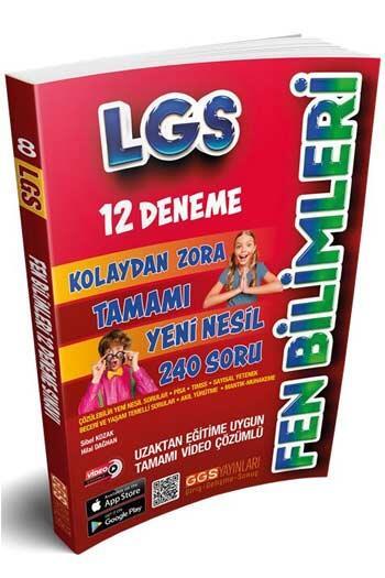 GGS Yayınları 8. Sınıf LGS Fen Bilimleri 12 Deneme