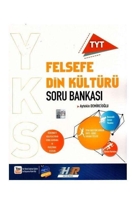 Hız ve Renk Yayınları TYT Felsefe Din Kültürü Soru Bankası