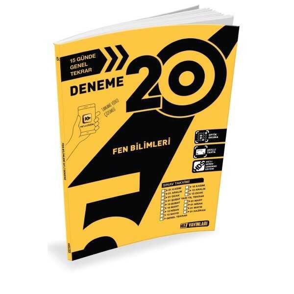 Hız Yayınları 5. Sınıf Fen Bilimleri 20'li Deneme