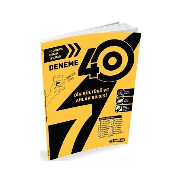 Hız Yayınları 7. Sınıf Din Kültürü ve Ahlak Bilgisi 40'lı Deneme