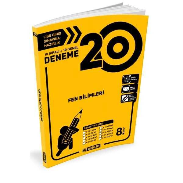 Hız Yayınları 8. Sınıf Fen Bilimleri 20'li Deneme