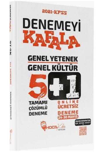 Hoca Kafası Yayınları 2021 KPSS Genel Yetenek Genel Kültür Denemeyi Kafala Çözümlü 5+1 Deneme