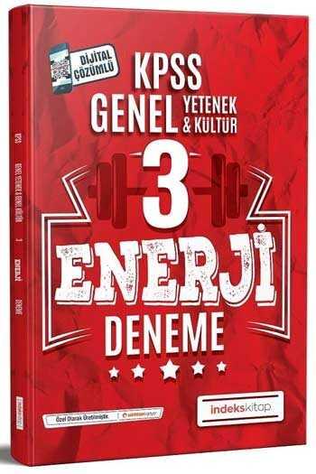 İndeks Kitap 2020 KPSS Genel Yetenek Genel Kültür Enerji Çözümlü 3 Deneme
