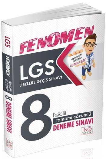 İnovasyon Yayıncılık LGS Fenomen Tamamı Çözümlü 8 Deneme Sınavı Fasiküllü