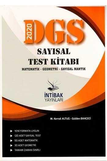 İntibak Yayınları 2020 DGS Sayısal Test Kitabı