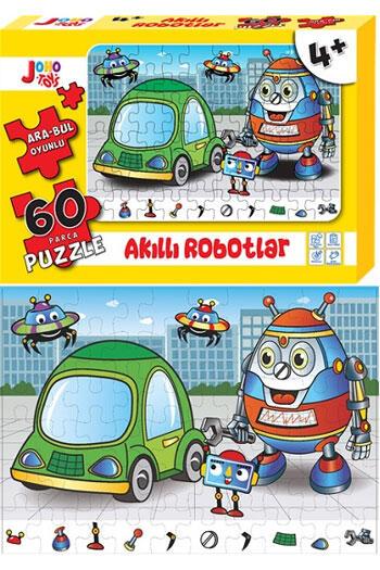Joho Toys Akıllı Robotlar 60 Parça Puzzle
