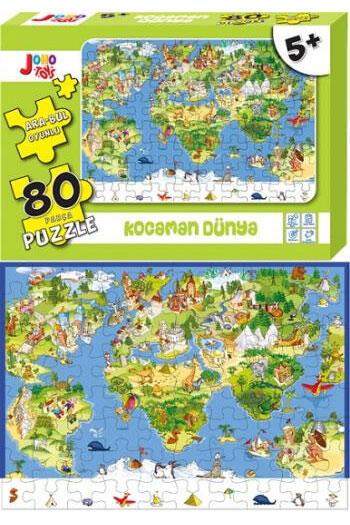 Joho Toys Kocaman Dünya 80 Parça Puzzle