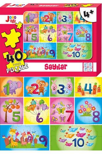 Joho Toys Sayılar 40 Parça Puzzle