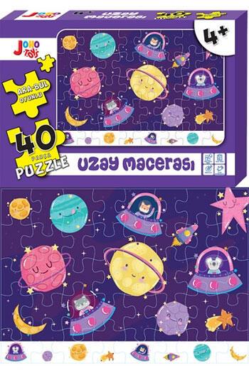Joho Toys Uzay Macerası 40 Parça Puzzle