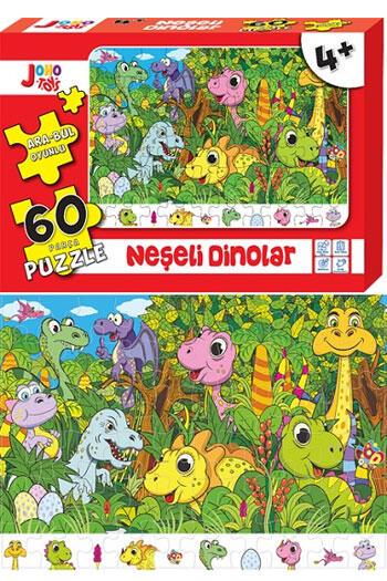 Joho Toys Neşeli Dinolar 60 Parça Puzzle