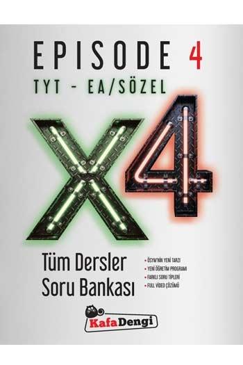 Kafa Dengi Yayınları TYT EA Sözel X4 Tüm Dersler Soru Bankası Episode 4