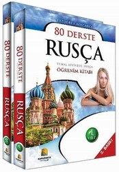 Kapadokya Yayınları - Kapadokya Yayınları 80 Derste Rusça Temel Seviyede Rusça Öğrenim Kitabı 2 Cilt