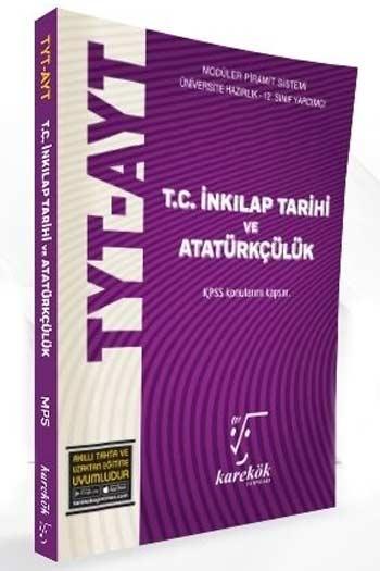 Karekök Yayınları TYT AYT T.C. İnkılap Tarihi ve Atatürkçülük Konu Anlatımlı Soru Bankası