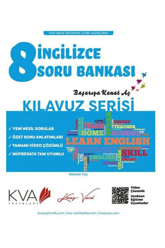 Koray Varol Akademi 8. Sınıf İngilizce Kılavuz Serisi Soru Bankası