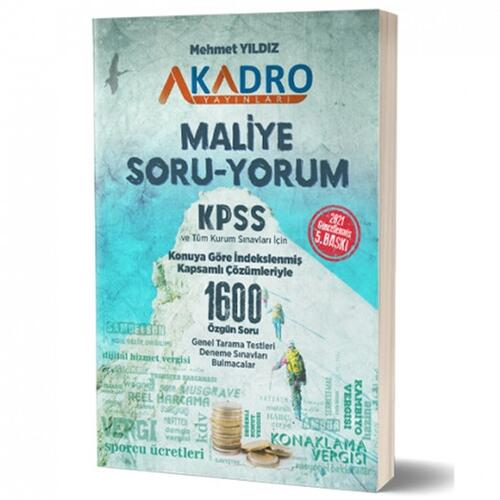 KPSS A Grubu Maliye Soru Yorum Soru Bankası A Kadro Yayınları 2021