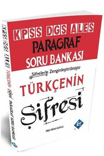 KR Akademi 2021 KPSS ALES DGS Türkçenin Şifresi Paragraf Soru Bankası