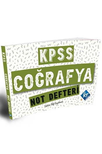 KR Akademi 2021 KPSS Coğrafya Not Defteri