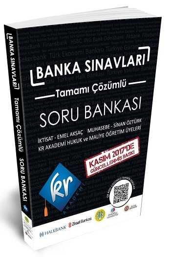 KR Akademi Yayınları Banka Sınavları Tamamı Çözümlü Soru Bankası
