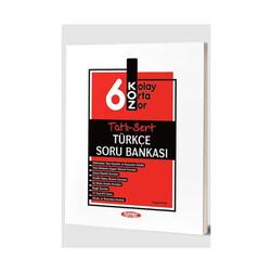 Kurmay Okul Yayınları - Kurmay Okul Yayınları 6. Sınıf Türkçe KOZ Tatlı Sert Soru Bankası