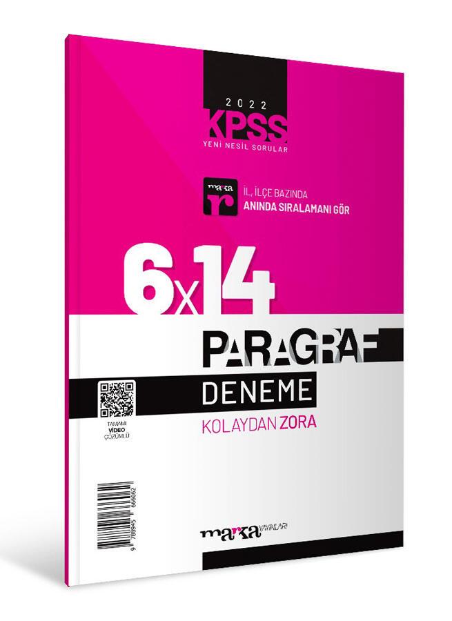 Marka Yayınları 2022 KPSS Yeni Nesil Video Çözümlü Kolaydan Zora 6x14 Paragraf Deneme