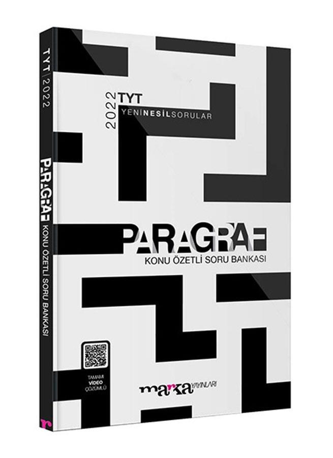 Marka Yayınları 2022 TYT Paragraf Konu Özetli Yeni Nesil Soru Bankası Tamamı Video Çözümlü