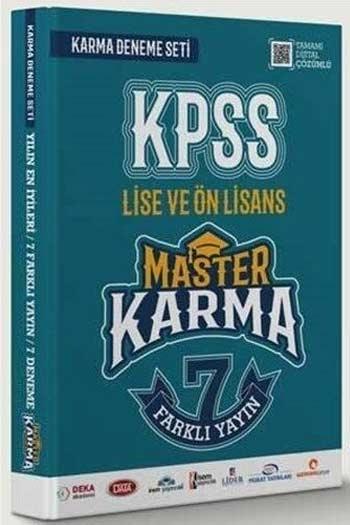 Master Karma KPSS Lise ve Ön Lisans 7 Farklı Yayın Çözümlü Deneme Seti