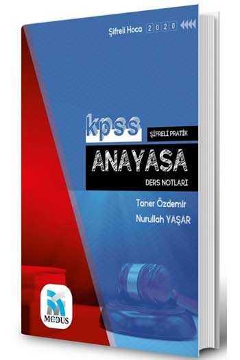Modus Yayınları 2020 KPSS Şifreli Pratik Anayasa Ders Notları