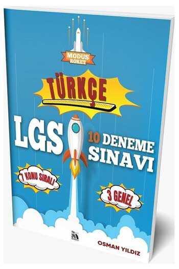Modus Yayınları 8. Sınıf LGS Türkçe Roket 10 Deneme