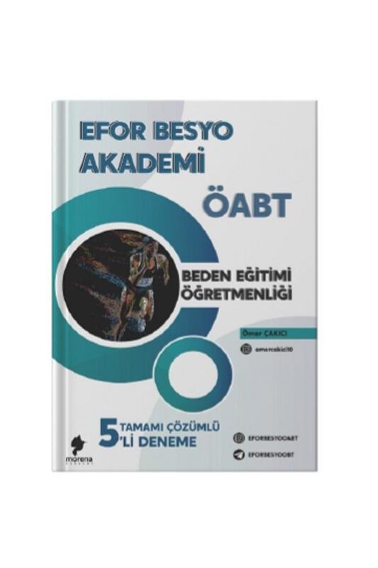 Morena Akademi Yayınları 2021 ÖABT Beden Eğitimi Öğretmenliği Efor BESYO 5 Deneme Çözümlü