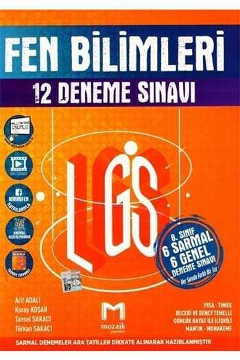 Mozaik Yayınları 8. Sınıf LGS Fen Bilimleri 12 Deneme Sınavı