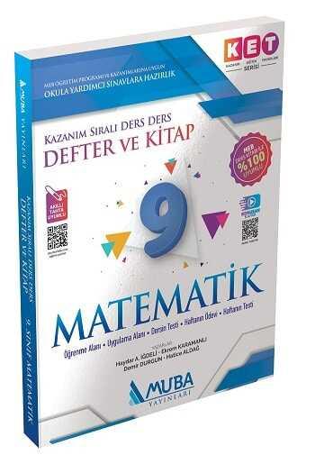 Muba Yayınları KET Serisi 9.Sınıf Matematik Defter ve Kitap