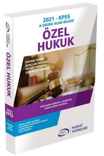 Murat Yayınları 2021 KPSS A Grubu Özel Hukuk Konu Anlatımlı