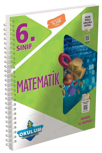 Murat Yayınları 6. Sınıf Matematik Okulum Akıllı Defteri