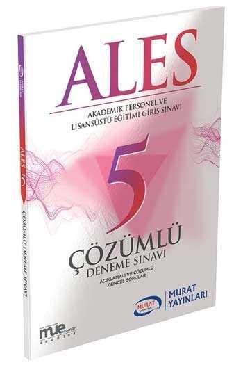 Murat Yayınları ALES Açıklamalı ve Çözümlü 5 Deneme Sınavı