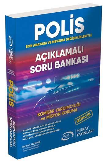 Murat Yayınları Komiser Yardımcılığı ve Misyon Koruma Açıklamalı Soru Bankası