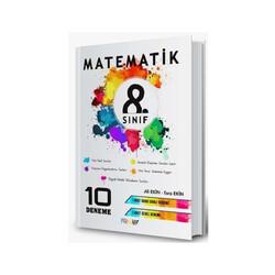 Mürekkep Yayınları - Mürekkep Yayınları 8. Sınıf Matematik 10 Deneme