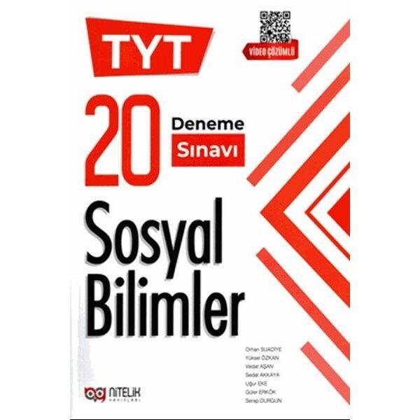 Nitelik Yayınları 2021 TYT Sosyal Bilimler 20 Deneme Sınavı