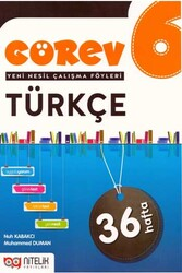Nitelik Yayınları - Nitelik Yayınları 6. Sınıf Türkçe Görev Yeni Nesil Çalışma Föyleri
