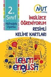 Nut Publishing - Nut Publishing 2.Sınıf İngilizce Öğreniyorum Resimli Kelime Kartları