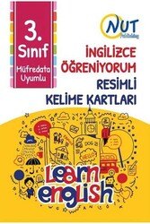 Nut Publishing - Nut Publishing 3.Sınıf İngilizce Öğreniyorum Resimli Kelime Kartları