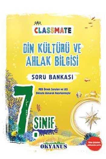 Okyanus Yayınları 7. Sınıf Classmate Din Kültürü ve Ahlak Bilgisi Soru Bankası