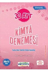 Okyanus Yayınları - Okyanus Yayınları AYT Kimya 30 Deneme